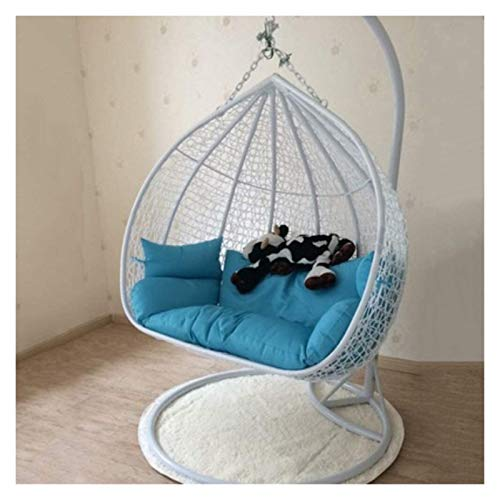 HLZY Outdoor Cushions for Patio Chairs Large Double Hanging Egg Hammock Chair Cushion Without Stand Patio Swing Chair Cushion For Outside Egg Nest Chair Seat Cushion Deck Chair Cushions