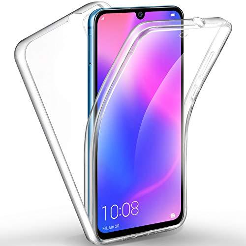 AROYI Huawei P30 Hülle 360 Grad Handyhülle, Silikon Crystal Full Schutz Cover [2in1 Separat Hart PC Zurück + Weich TPU Vorderseite] Vorne und Hinten Schutzhülle für Huawei P30