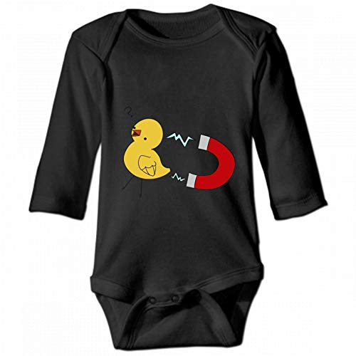 Chick Magnet Unisex Baby Round Neck Long Sleeve Bodysuit, Fashion Casual Baby Climbing Suit 18M