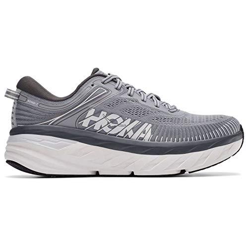 HOKA ONE ONE Men's Bondi 7 Running Shoe, Wild Dove/Dark Shadow, 9