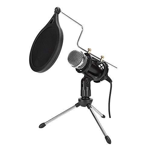 Micrófono de condensador USB con trípode, micrófono de condensador profesional Micrófono de grabación de voz de estudio para PC Teléfono móvil