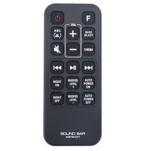 Mando a distancia de repuesto AKB74815371 de Vinabty AKB 74815371 para LG Sound Bar Audio AKB74815371