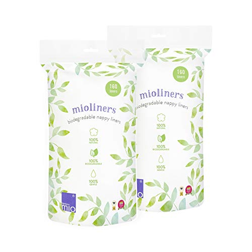 Bambino Mio BL2, Mioliners (Forros Biodegradables para Pañal), Blanco, Pack de...