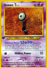 Pokemon - Unown [L] (86) - Neo Destiny