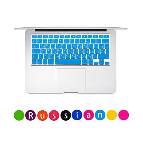 Laptop Keyboard Protective Film Waterproof For MacBook Pro air 13'15' Russian EU Notebook Keyboard Cover Dustproof Film Silicone-Blue-