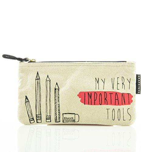 Zip Pouch: My very important Tools - Modischer Reißverschlussbeutel: Unser cooler Reißverschlussbeutel für Stifte, Make up und lose Kleinigkeiten