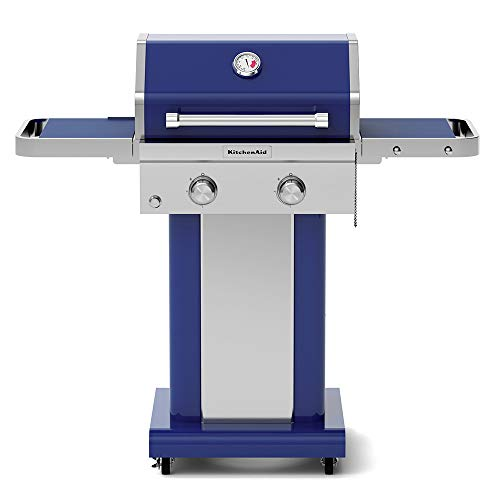 KitchenAid 720-0891G Full-Size Propane Gas Grill, Blue  Eligible for garden Grills lawn Monthly patio Payments Products Propane