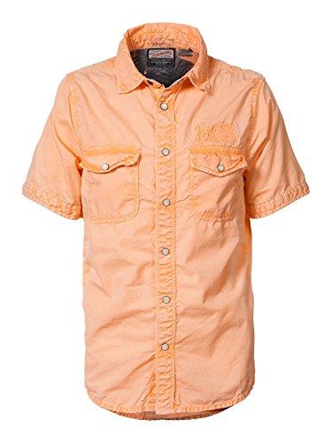 Petrol Industries - Jungen kurzarm Hemd einfarbig Used-Look, orange B-SS17-SIS401 - Größe 176