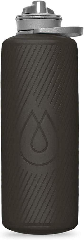 Hydrapak Flux – Garrafa de água dobrável para mochila (1 ou 1,5 litro) – Sem BPA, ultra leve, à prova de derramamento