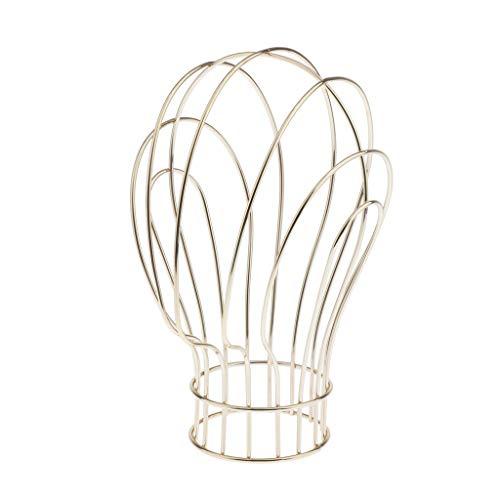 Universal Metall Perückenständer Perückenhalter Hutständer Perücken Display Halter Hut Ständer - Golden