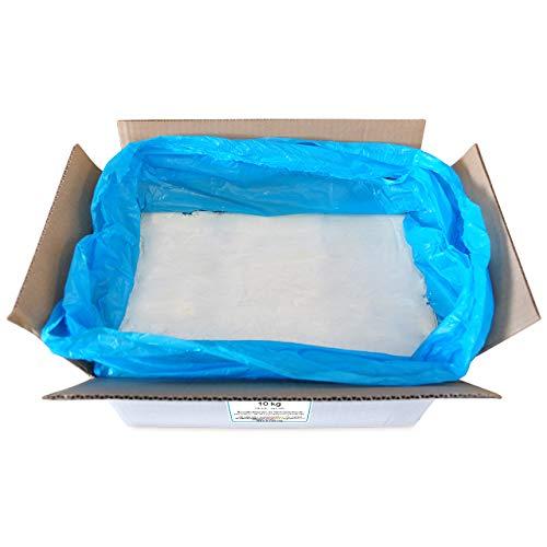 DistrEbution 10 kg Rapswachs Kokoswachs Mischung, NatureWax® 660-55M für die Herstellung von pflanzlich, vegan Kerzen, zum Kerzen gießen