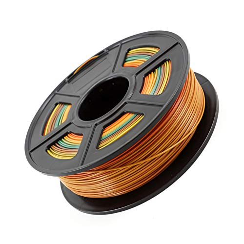 LHF PLA Color Changing Rainbow 3d Printing Material,Dimensional Accuracy 0.02mm,1.75mm 1kg Spool 3D Printing Filament Rainbow Pla 1.75mm