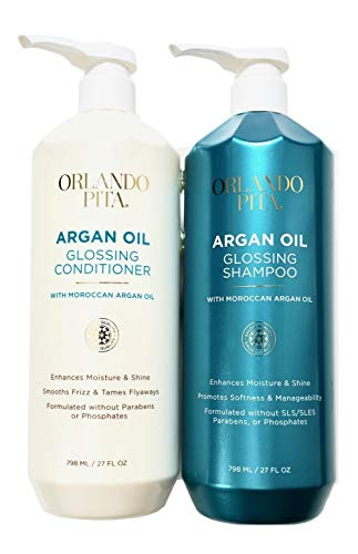 Argan Gloss Hair Shampoo and Conditioner Set (798ml/27floz