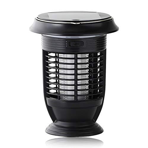 kishima(キシマ) 蚊取り 電気 屋外 usb ソーラー 充電 携帯 ランタン led ライト 虫除け アウトドア ブラック サイズ:約φ16.5 H21.5 KNA88104