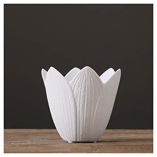 ZXL vazen minimalistische moderne keramische creatieve woonkamer salontafel tv-kast thuis wit gedroogd bloem plug (Maat: B)
