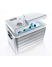 MOBICOOL Q40 AC/DC Draagbare thermo-elektrische aluminium koelbox, 39 liter, 12 V en 230 V, Mini koelkast voor auto, vrachtwagen en stopcontact, aluminium behuizing