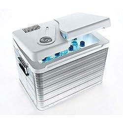 Mobicool Q40 AC / DC - Bærbar termoelektrisk køleboks i aluminium, 39 liter, 12 V og 230 V til bil, lastbil og stikkontakt, aluminiumshus
