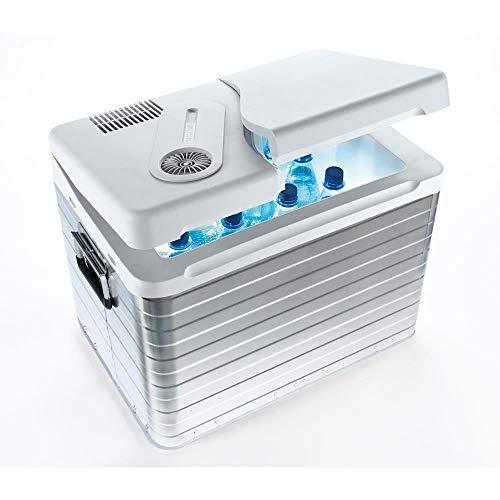 Mobicool Q40 AC/DC Draagbare thermo-elektrische aluminium koelbox, 39 liter, 12 V en 230 V voor auto, vrachtwagen en stopcontact, aluminium behuizing