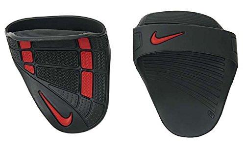 Nike FE0192S5-006 Alpha Training Grip, Large (Dark Charcoal/Black/Sport Red)