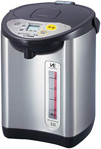 タイガー魔法瓶(TIGER) 電気ポット 省スチーム 節電タイマー VE 保温 とく子さん 3L ブラウン PIL-A300-T