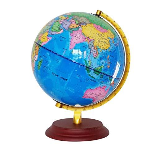 Retro Globe Base En Bois Lampe De Table Décoration Globe Maison Chambre Salon Décoration 32cm (Taille : 25cm)