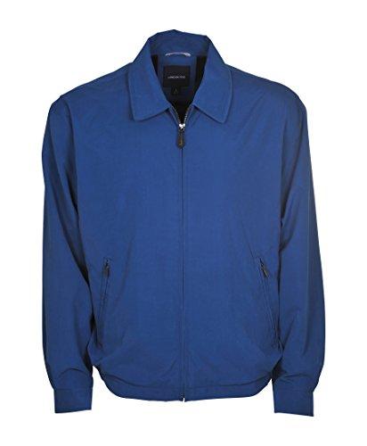 London Fog Men's Auburn Zip-Front Golf Jacket (Regular & Big-Tall Sizes), Pacific Blue, Large