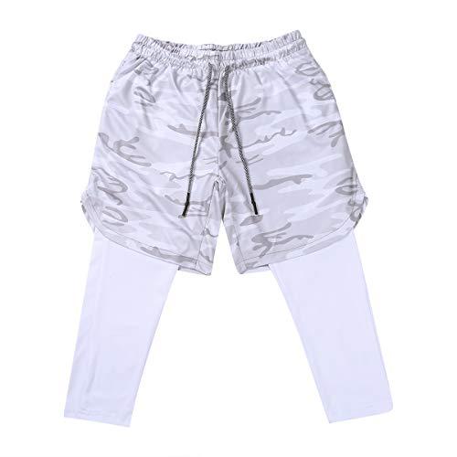 N/AA Pantalones deportivos para hombre con bolsillos