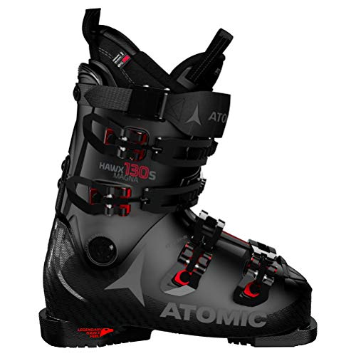 Atomic HAWX Magna 130 S Unisex Erwachsene Skischuhe, Schwarz - Negro y Rojo - Größe: 43.5 EU