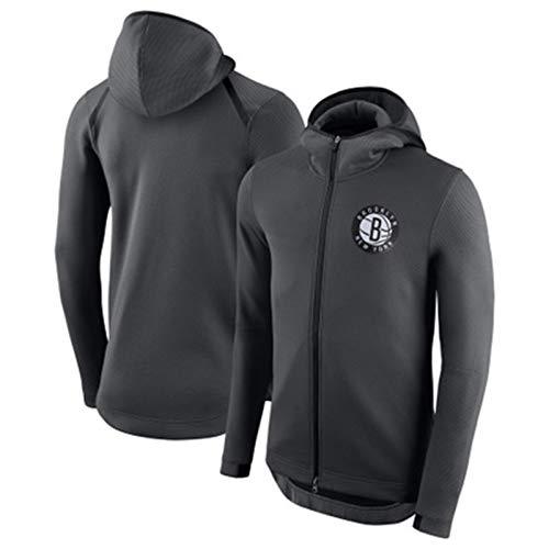 HUAML San Antonio Spurs Brooklyn Nets Winter Herren Hemd Damen Zipper Sweater Jacke Laufbekleidung Trainingsshirt Schwarz (S-XXL) Gr. XL, Netze