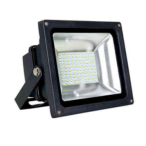 """ASD LED Floodlight 8"""" cord 50W SMD Outdoor Landscape Security Waterproof UL Listed 4000K (Bright White)"""