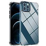 laxikoo Funda Compatible con iPhone 12 Pro MAX (6,7 Pulgada), Ultra Fina Transparente Silicona Suave TPU Carcasa Protectora Anti-Golpes Caso Anti-arañazos Case Cover Compatible con 12 Pro MAX