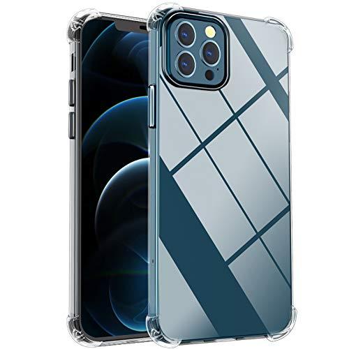 laxikoo Cover Compatibile con iPhone 12 PRO Max (6.7''), Custodia Clear Ultra Thin TPU Morbido in Silicone Bumper Housse Anti-Graffio HD Chiaro Protettiva Case Cover - Trasparente
