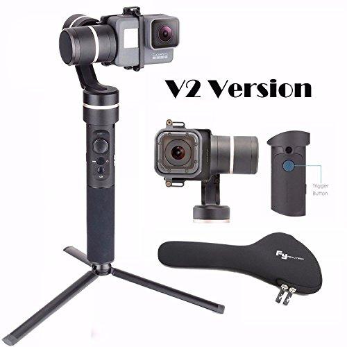 Metal Gimbal Stabilizer for Action Cameras Feiyu FeiyuTech G5 V2 Splash Proof 3-Axis Handheld Gimbal for GoPro Hero 7/6 /5/4 /3 /Session, Yi Cam 4K, AEE Action Cameras of Similar Size