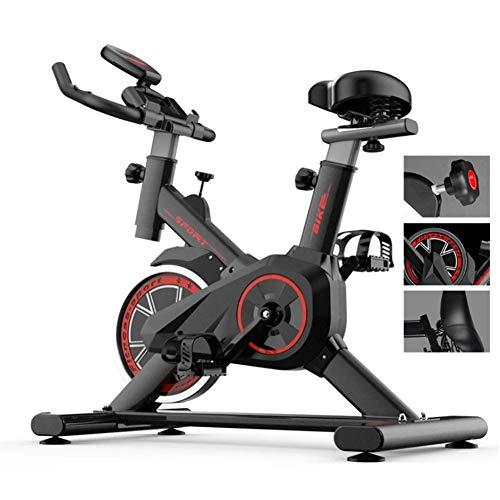 WOAIM Bicicleta Estatica Bicicleta de Ciclismo Interior Fitness Estacionario Ajustable Entrenamiento Ejercicio Profesional Bici del Deporte de 330 Libras Capacidad de Peso