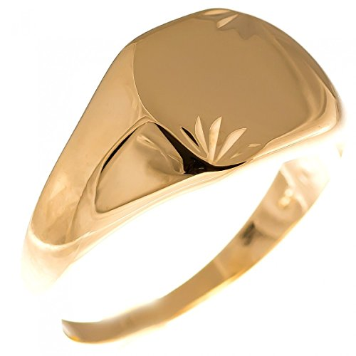 ISADY - Amazing Gold - Bague Mixte Homme Femme - Chevalière - Plaqué Or 750/000 (18 carats) - Taille 68