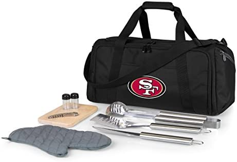 NFL San Francisco 49ers BBQ Kit Cooler Tote with Barbecue and Picnic Accessories product image