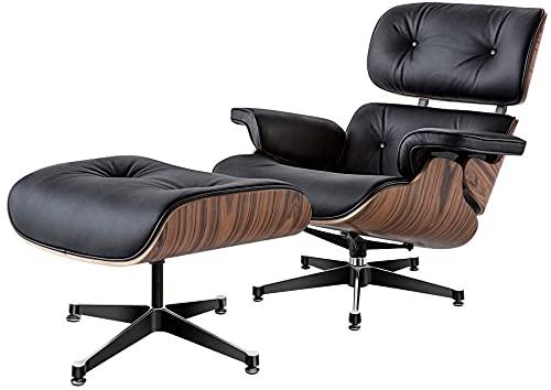 HTian Silla de salón con reposapiés, Oficina cómoda sillón reclinable sillón de Estudio sillón de Almuerzo