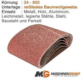 Made in Germany 50 x 686 mm Korn 80 3 Gewebe Schleifb/änder f/ür Holz und Metall