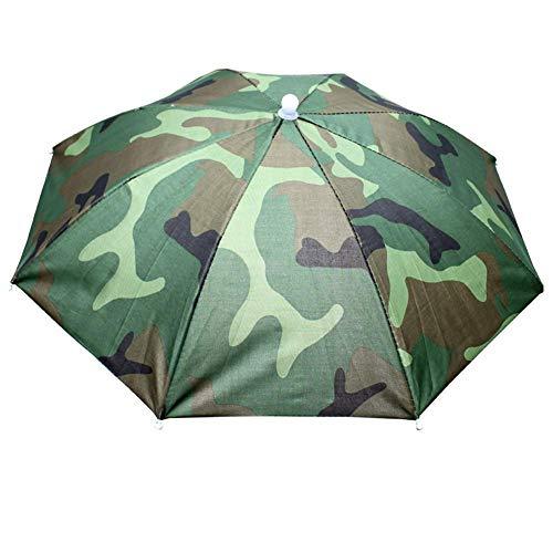 Hut für Sonnenschirm, elastisch, gerader Hut, Regenschirm, Angeln, Sonnenschirm, Tee, Sonnenschirm, 55 cm Durchmesser, für Angeln, Garten, Fotografie, Wandern Camouflage