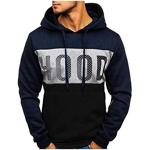 Lowest Prices! Qisc-Women Mens Pullover Hoodie Sweatshirts Long Sleeve Sport Patchwork Fall Outwear ...