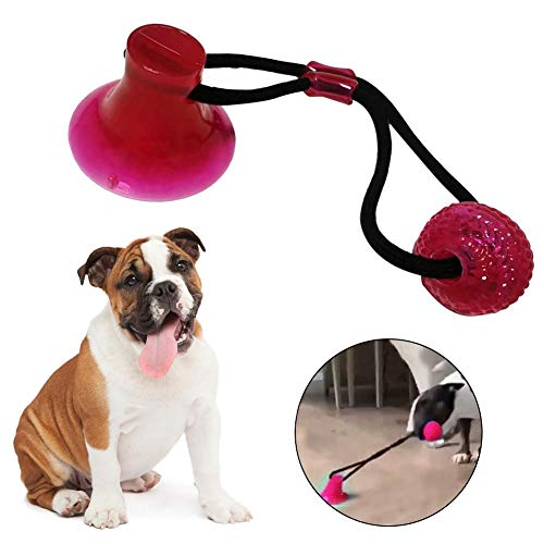 chivalrylist Hundespielzeug Ball-Hunde Interaktives Spielzeug-Hundeball mit Zahnpflege-Funktion Noppen Hundespielzeug aus Naturkautschuk