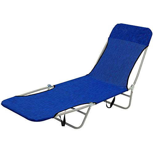UP STORE リクライニング ラウンジベッド アウトドアチェア 折りたたみ 持ち運び可能 軽量仕様 肌触りと通気性を重視したメッシュ生地 速乾 キャンプ 海水浴 バルコニー お昼寝 介護 簡易ベッド リラックスチェア