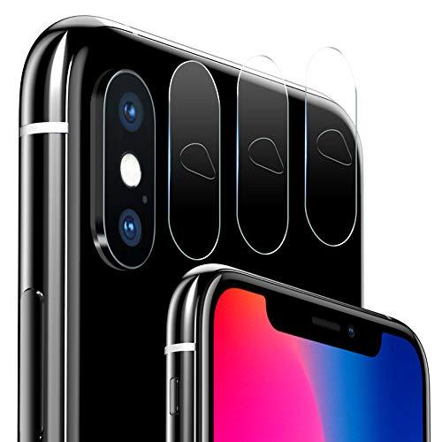 iVoler [3 Pack] Protettore Lente Fotocamera Posteriore per iPhone XS Max/XS/X, Pellicola Vetro Temperato Film Protezione dell' Obiettivo della Fotocamera per iPhone XS Max/XS/X