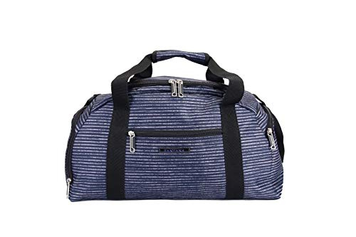 Fantana London Collection Light Pack Spinner Suitcase/Backpack/Holdall/Tote Bag/Vanity Case - Stripe Print (Holdall)