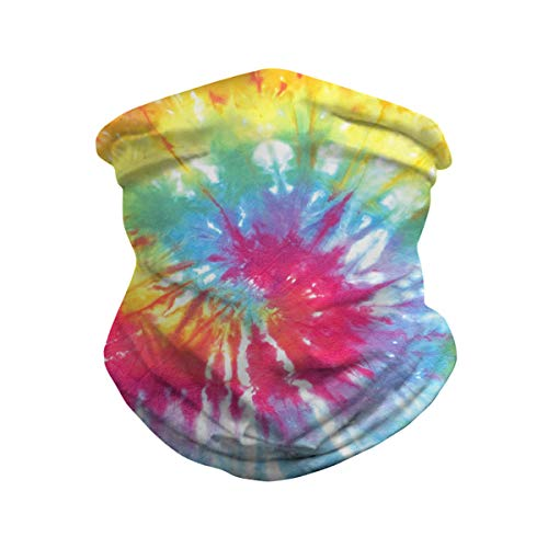 Unisex Galaxy Tie Dye Face Bandanas Seamless Rave UV Protection Neck Gaiter Sports Casual Headwear Multifunctional Face Scarf Tube Headwrap Windproof Anti Dust Balaclava for Women Men Outdoor Cycling