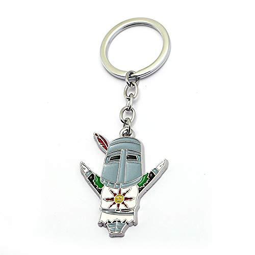 MINTUAN Schlüsselbund Schlüsselring Dark Souls 3 Broschencharaktere Dark 3 Keychain Painting Oil Figure Halskette
