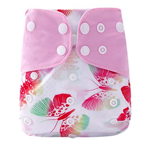 Baby Doek Luier Wasbare Herbruikbare Luiers Invoegen All-in-One Pocket luier voor de meeste baby's en peuters roze