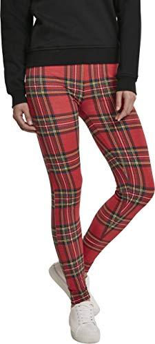 Urban Classics Urban Classics Urban Classics Ladies AOP Tartan Leggings Streetwear Pantalone