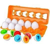 MATERIALE SICURO PER BAMBINI E MESTIERE DI ALTA QUALITÀ - Questo giocattolo educativo a forma di uovo è realizzato con materiali plastici ABS di alta qualità e sicuri per l'infanzia, e si adatta bene, ogni bordo è liscio. Ha robusta custodia in plast...