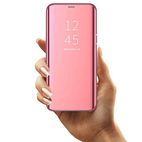 Kompatibel mit Huawei P30 Lite Hülle - Klapphülle Bumper Handyhülle Schutzhülle für Huawei P30 Lite/Huawei P30 Lite New Edition Handytasche Spiegel Hüllen Flip Cover 6,15 Zoll-1
